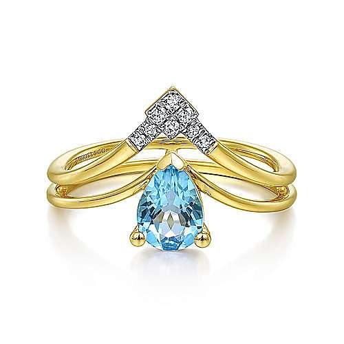 Gabriel - 14k Yellow Gold Constellations Fashion Ladies Ring