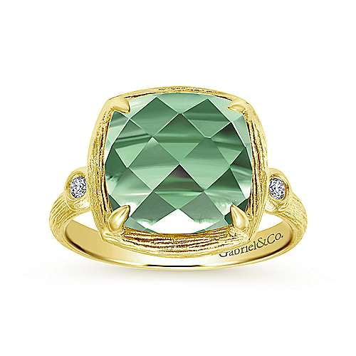 14k Yellow Gold Contemporary Classic Ladies Ring