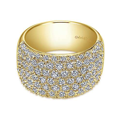 Gabriel - 14k Yellow Gold Contemporary Fancy Anniversary Band