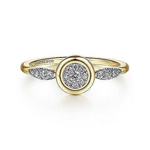 Gabriel - 14k Yellow Gold Contemporary Fashion Ladies Ring