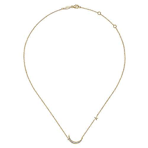 14k Yellow Gold Contemporary Fashion Necklace