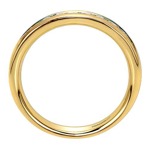 14k Yellow Gold Contemporary Straight Anniversary Band angle 2