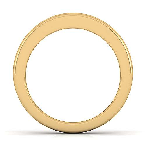 14k Yellow Gold Contemporary Straight Wedding Band angle 2