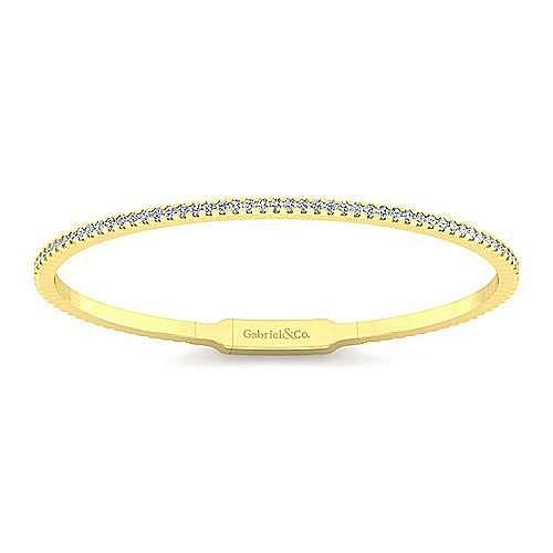 14k Yellow Gold Demure Bangle angle 1