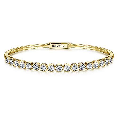 Gabriel - 14k Yellow Gold Demure Bangle