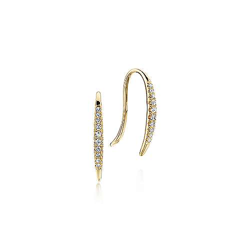 14k Yellow Gold Ear Climber Earrings