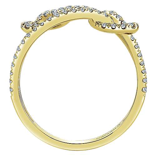 14k Yellow Gold Eternal Love Fashion Ladies' Ring angle 2