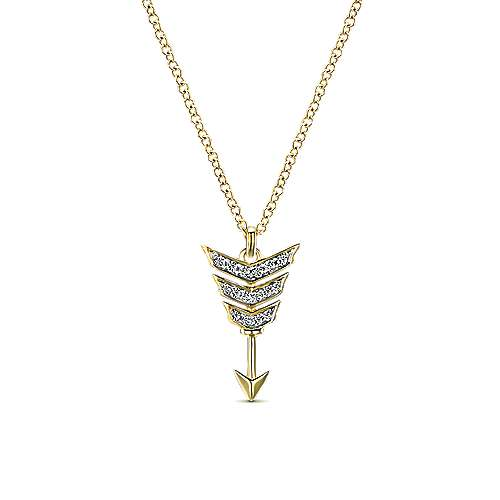 14k Yellow Gold Eternal Love Fashion Necklace