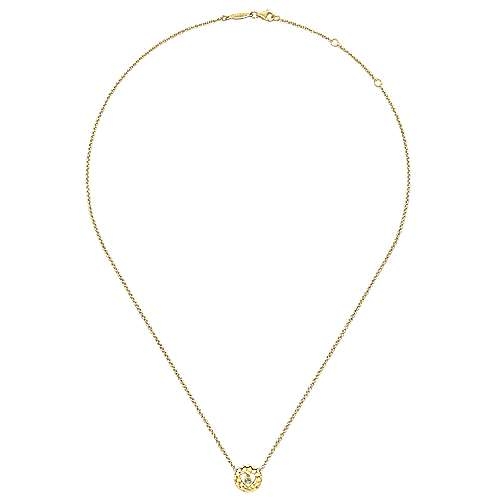 14k Yellow Gold Eternal Love Heart Necklace angle 2
