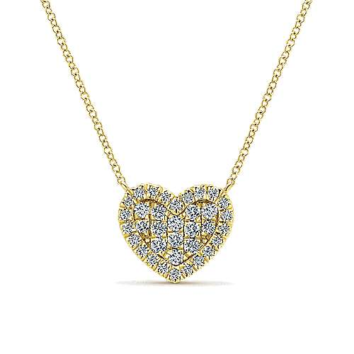 Gabriel - 14k Yellow Gold Eternal Love Heart Necklace