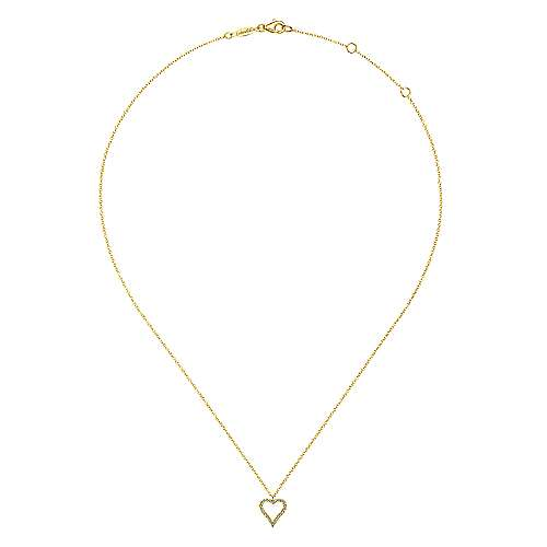 14k Yellow Gold Eternal Love Heart Necklace