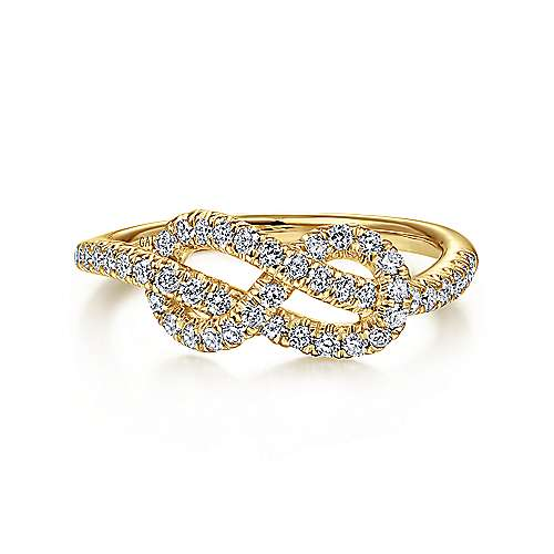 Gabriel - 14k Yellow Gold Eternal Love Twisted Ladies' Ring