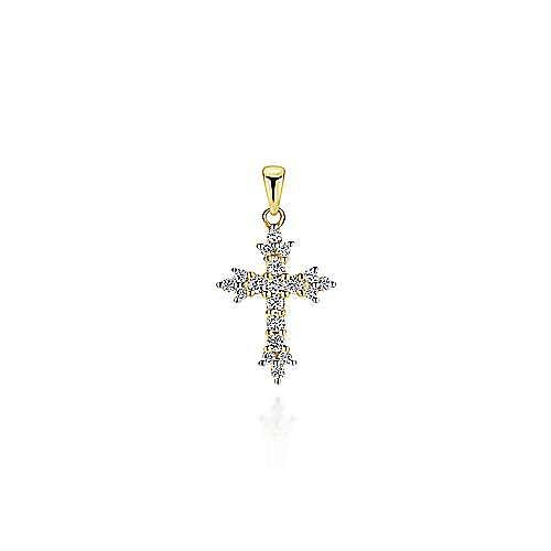 Gabriel - 14k Yellow Gold Faith Cross Cross Pendant