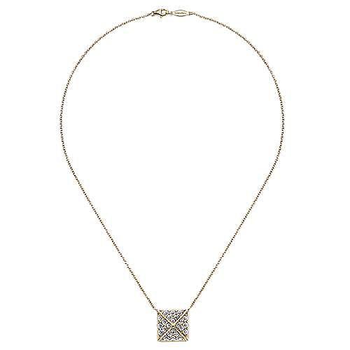 14k Yellow Gold Fierce Fashion Necklace angle 2