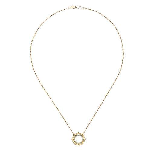 14k Yellow Gold Flirtation Fashion Necklace angle 2