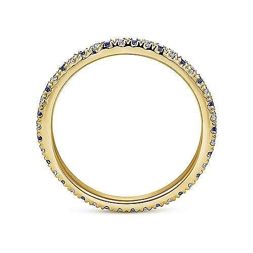 14k Yellow Gold French Pavé Set