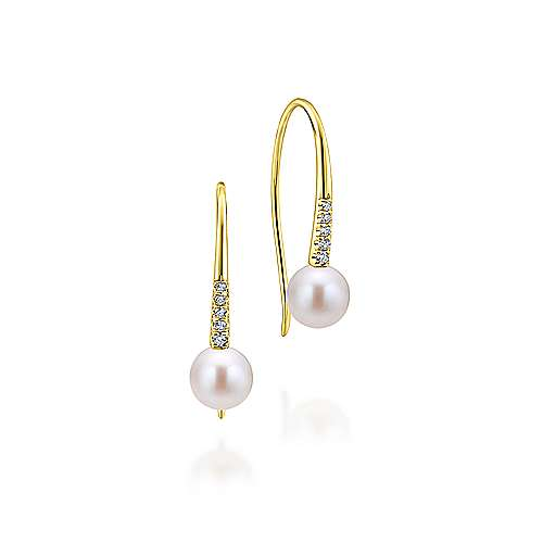 14k Yellow Gold Grace Drop Earrings
