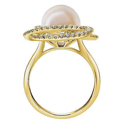 14k Yellow Gold Grace Fashion Ladies' Ring angle 2