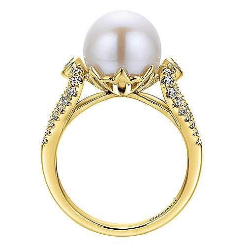 14k Yellow Gold Grace Fashion Ladies' Ring angle 2