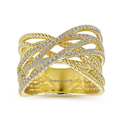 14k Yellow Gold Hampton Fashion Ladies' Ring angle 4