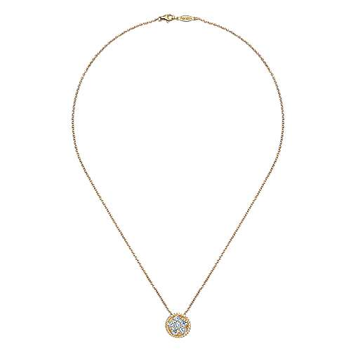14k Yellow Gold Hampton Fashion Necklace angle 2