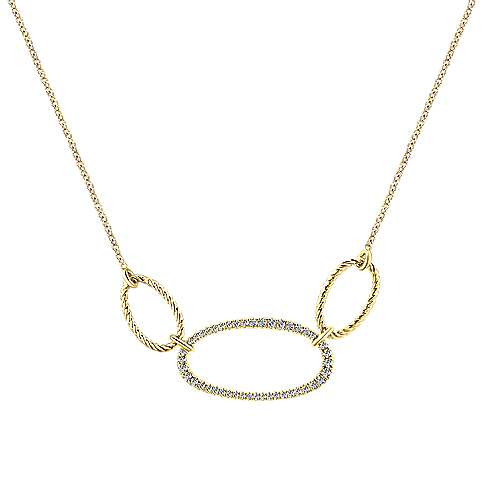 14k Yellow Gold Hampton Fashion Necklace angle 1