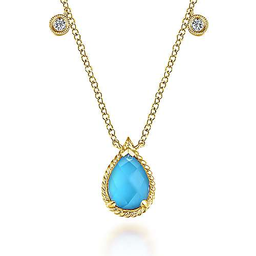 Gabriel - 14k Yellow Gold Hampton Fashion Necklace