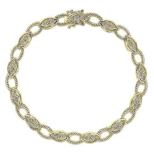 14k Yellow Gold Hampton Tennis Bracelet