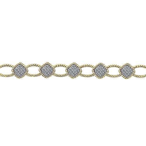 14k Yellow Gold Hampton Tennis Bracelet angle 2