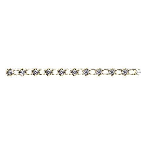 14k Yellow Gold Hampton Tennis Bracelet angle 3