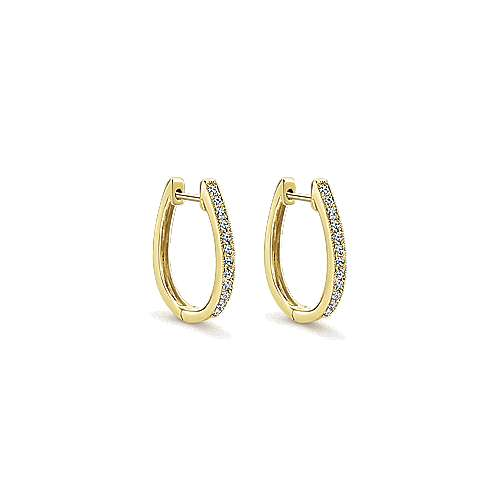 Gabriel - 14k Yellow Gold Huggies Huggie Earrings
