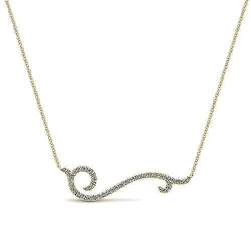 14k Yellow Gold Indulgence Bar Necklace angle 1