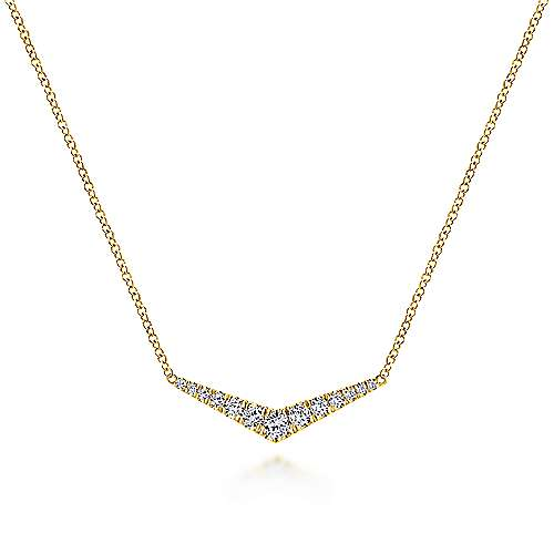 Gabriel - 14k Yellow Gold Indulgence Bar Necklace