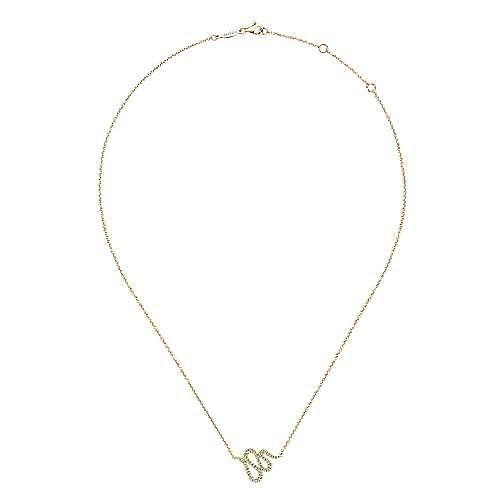 14k Yellow Gold Indulgence Fashion Necklace angle 2