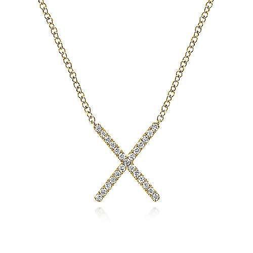 14k Yellow Gold Indulgence Fashion Necklace angle 1