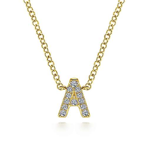 Gabriel - 14k Yellow Gold Initial Necklace