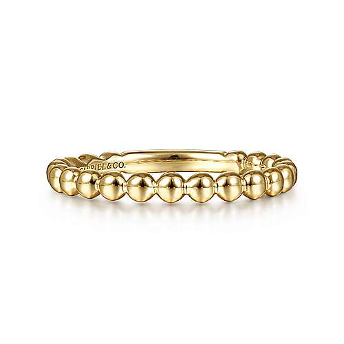 Gabriel - 14k Yellow Gold Intertwined Stackable Ladies Ring