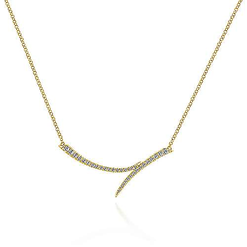 Gabriel - 14k Yellow Gold Kaslique Bar Necklace