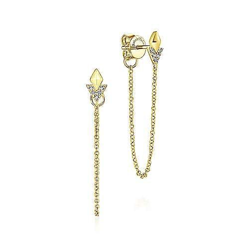 14k Yellow Gold Kaslique Drop Earrings