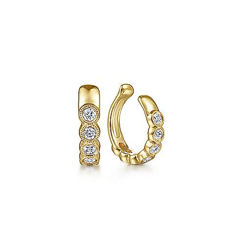 Gabriel - 14k Yellow Gold Kaslique Earcuffs Earrings
