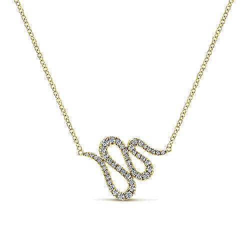 14k Yellow Gold Kaslique Fashion Necklace