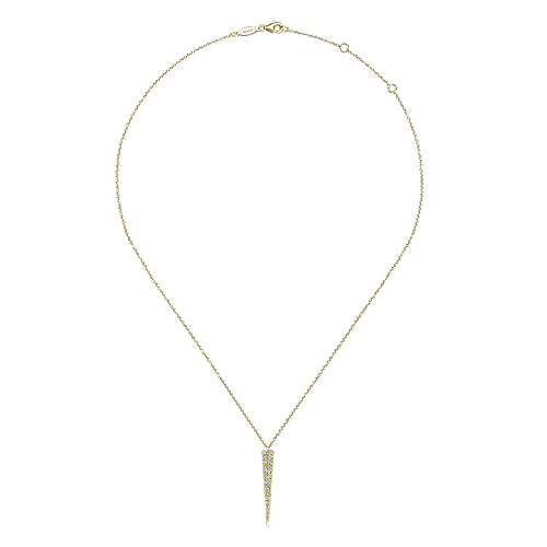 14k Yellow Gold Kaslique Fashion Necklace angle 2