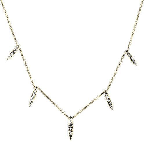 Gabriel - 14k Yellow Gold Kaslique Fashion Necklace