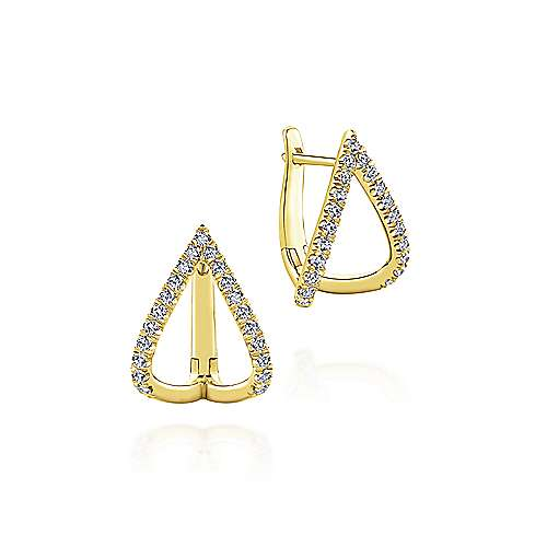 Gabriel - 14k Yellow Gold Kaslique Huggie Earrings