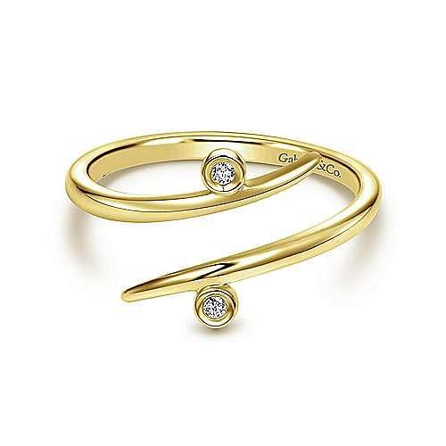 14k Yellow Gold Kaslique Midi Ladies Ring
