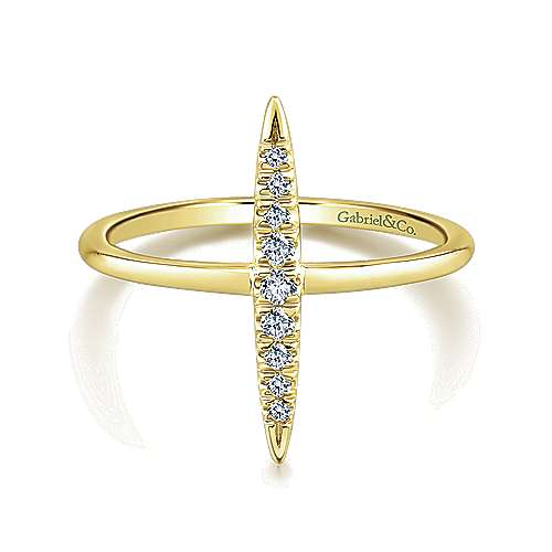 Gabriel - 14k Yellow Gold Kaslique Midi Ladies Ring
