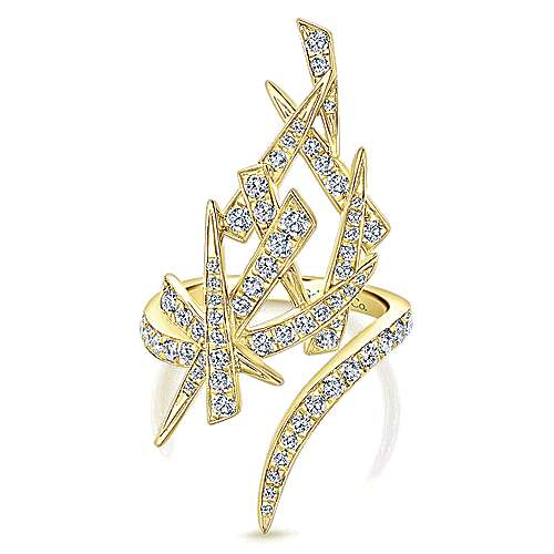 14k Yellow Gold Kaslique Statement Ladies' Ring angle 1