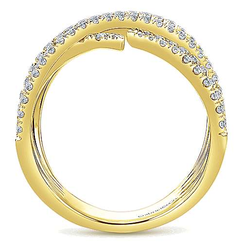 14k Yellow Gold Kaslique Twisted Ladies' Ring angle 2