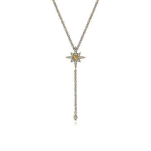 14k Yellow Gold Kaslique Y Knots Necklace