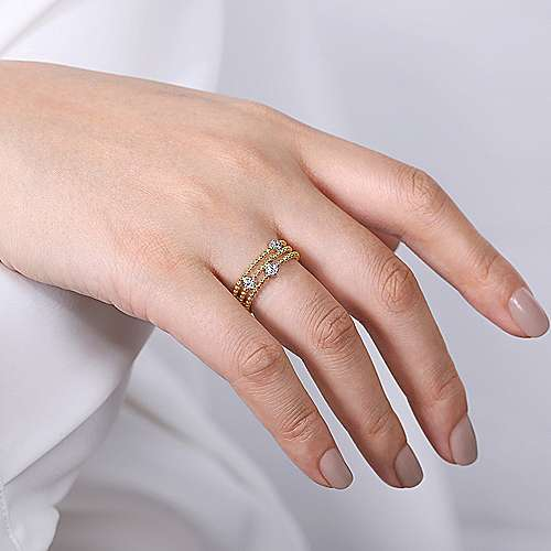 14k Yellow Gold Ladies Ring